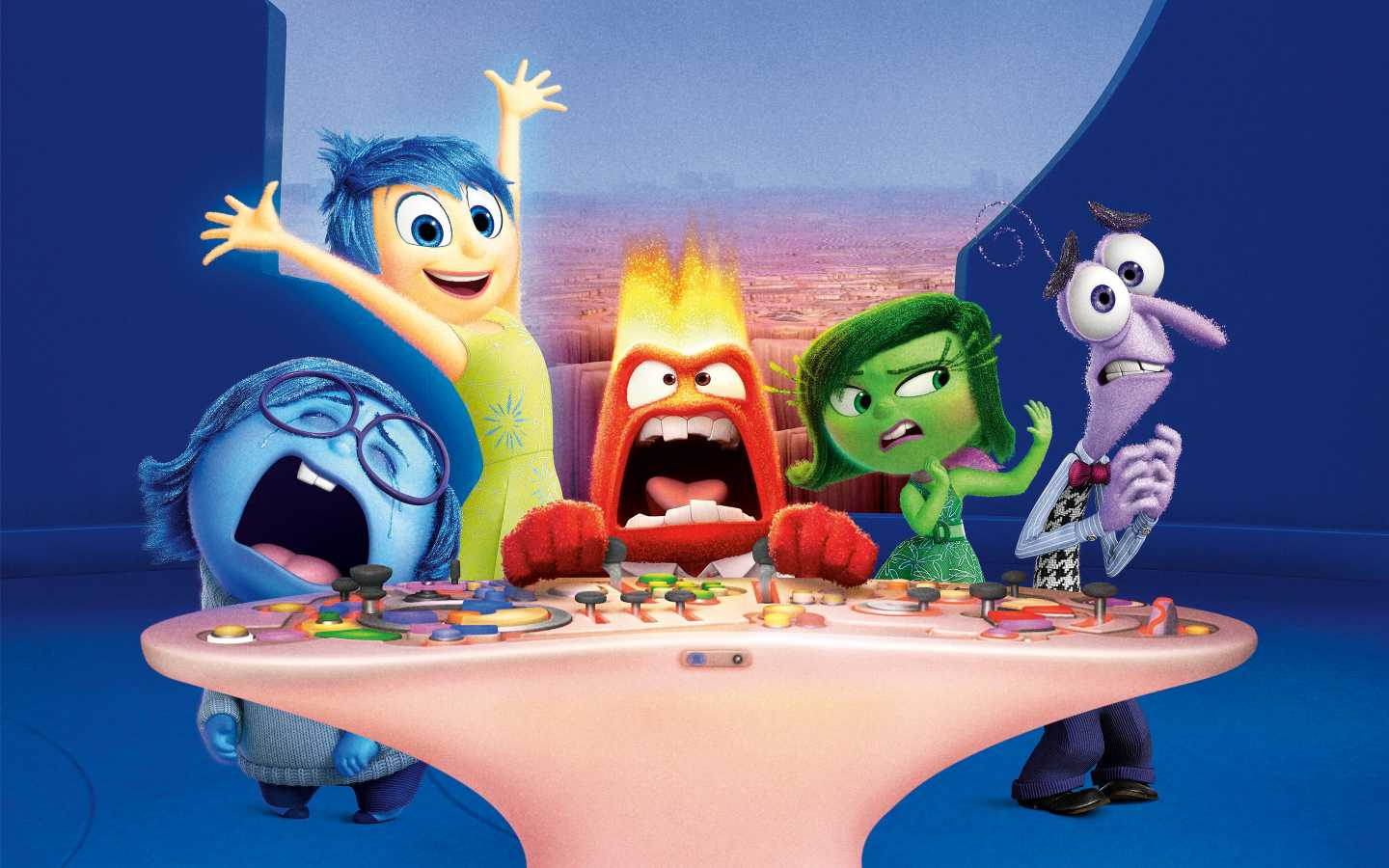 Inside Out Movie Characters Qhd