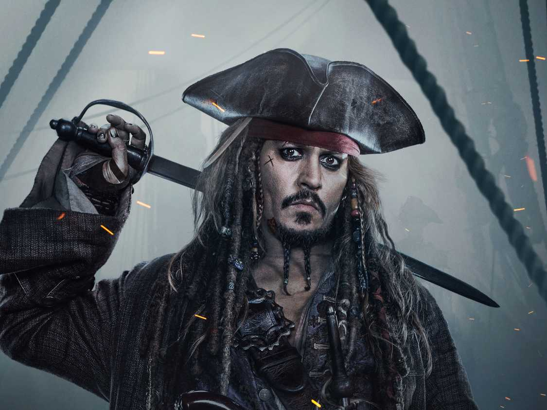Jack Sparrow In Pirates Of The Caribbean Dead Men Tell No Tales 4k Wide