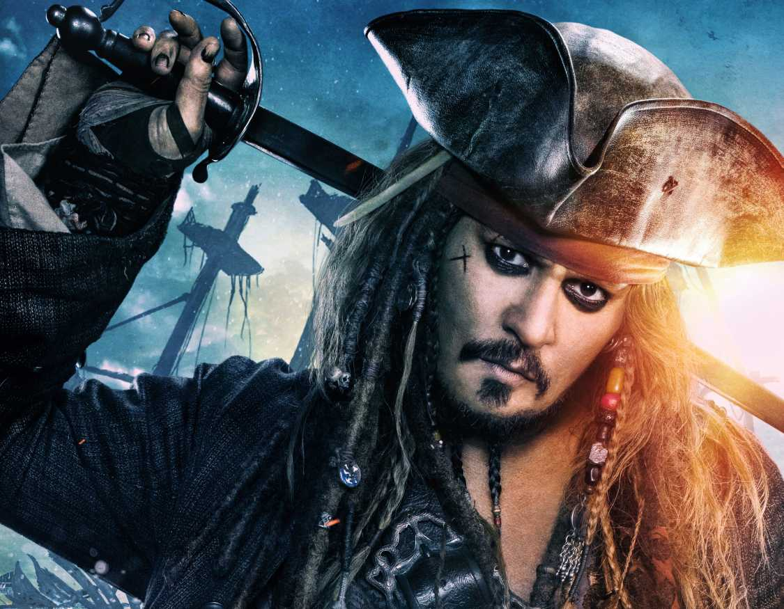 Jack Sparrow In Pirates Of The Caribbean Dead Men Tell No Tales Movie