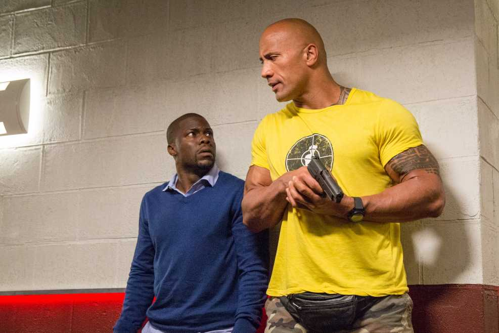 Kevin Hart And Dwayne Johnson Central Intelligence Hd