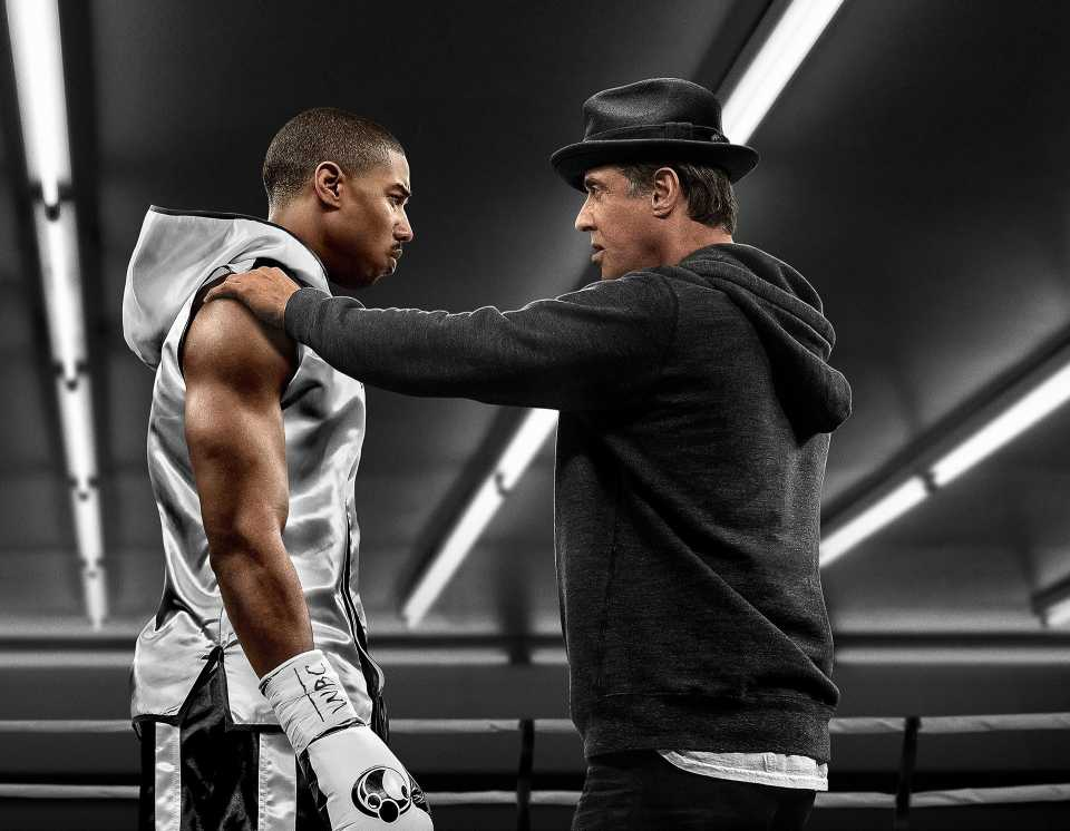 Michael B Jordan And Sylvester Stallone In Creed Movie
