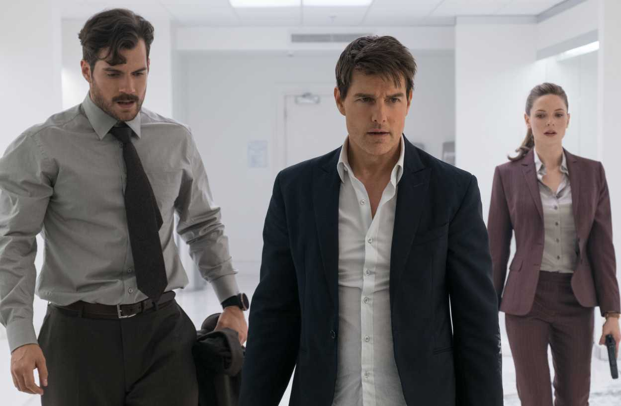Mission Impossible Fallout Tom Cruise Rebecca Ferguson Henry Cavill
