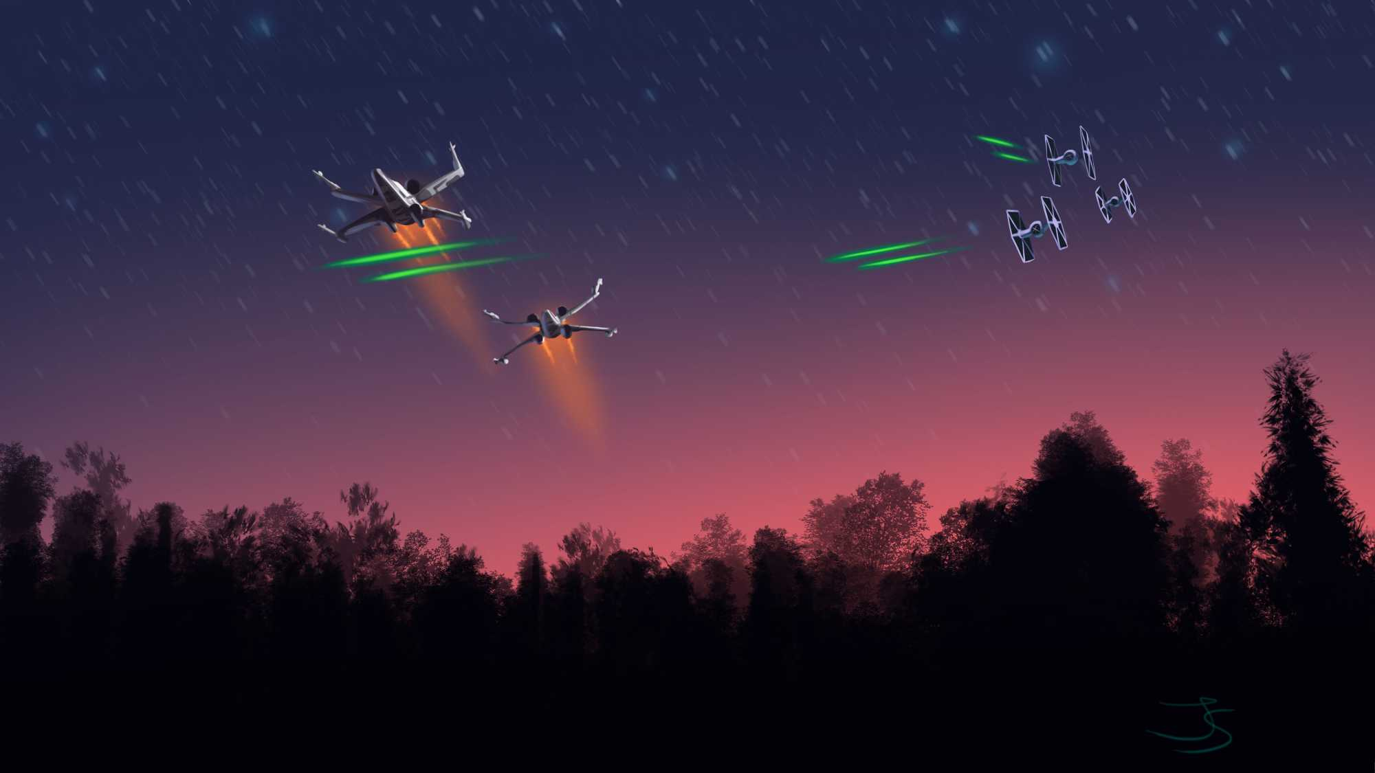 Rogue Squadron Tiefighters Artwork