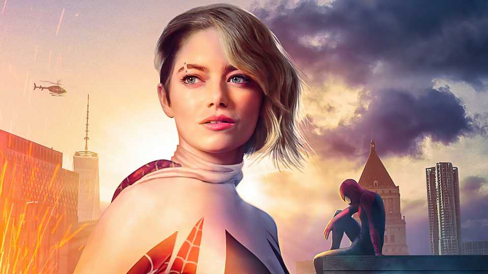 Spiderman No Way Home Gwens Stacy Emma Stone Poster