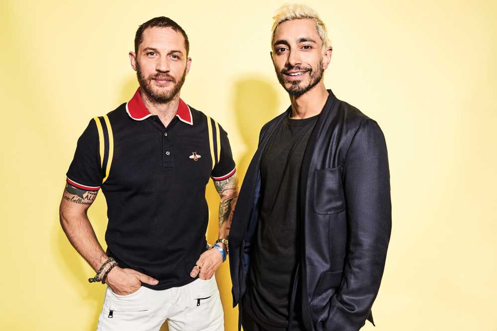 Tom Hardy And Riz Ahmed At Comic Con