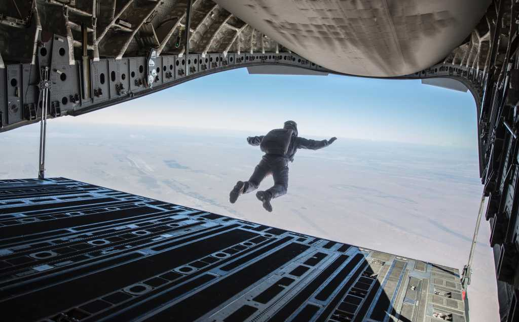 Tom Cruise Mission Impossible Fallout 2018 Jumps Out Of Plane