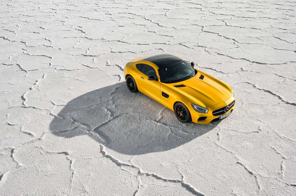 2018 Yellow Mercedes Benz Amg Gt Wide